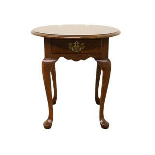 Pennsylvania House Solid Cherry Queen Anne Style Lamp Table For Sale