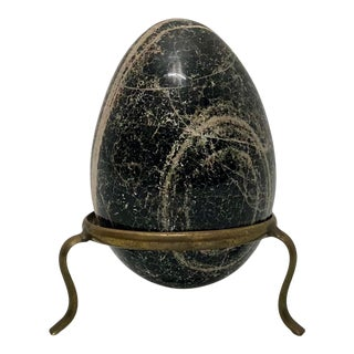 Biotite Egg on Stand For Sale