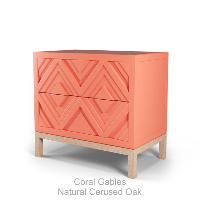 Not Yet Made - Made To Order Susana Side Table - Coral Gables, Natural Cerused Oak For Sale - Image 5 of 5