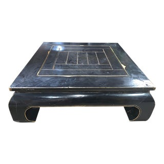Contemporary Large Black Chow Table For Sale
