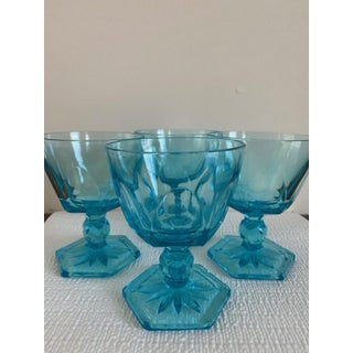 Blue Glass Drinking Glasses - Set of 4 Preview