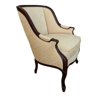 Mahogany Curved Back Bergère by Hickory Chair For Sale