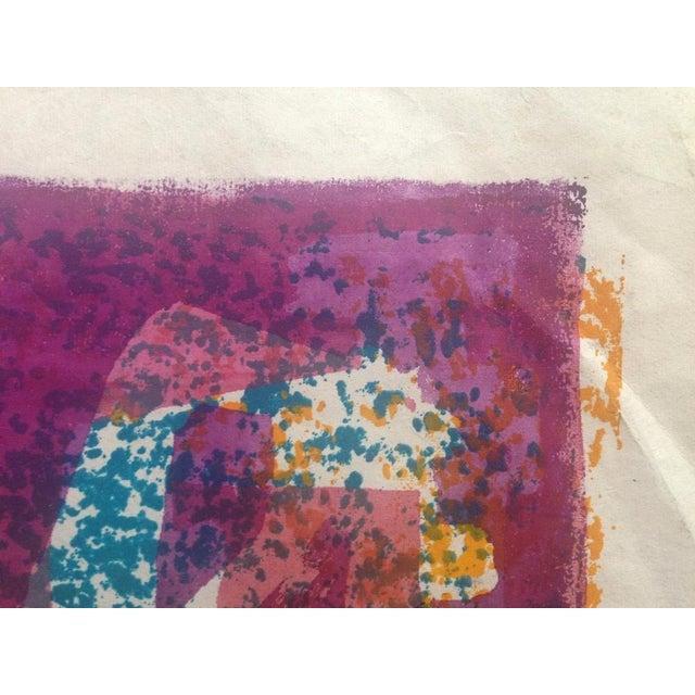 Mid-Century Abstract Silkscreen Estelle Siegelaub For Sale - Image 7 of 7