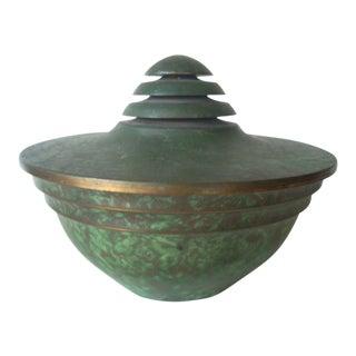 Carl Sorensen Neoclassical Covered Copper Bowl For Sale