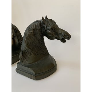 Mid Century Bronze Equestrian Horse Bookends, the Pair Preview