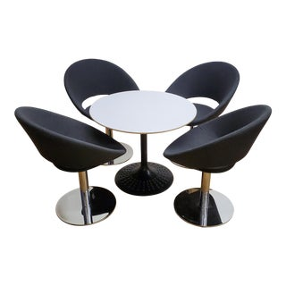 West Coast Industries Mid-Century Modern Cafe Dining Set - 5 Pieces For Sale