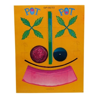 "1967 Vintage ""Op-Outs"" ""Pot"" Poster by Moon For Sale"