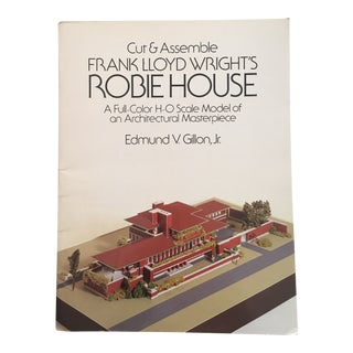"1987 ""Cut & Assemble Frank Lloyd Wright's Robie House"" First Edition Art Book For Sale"