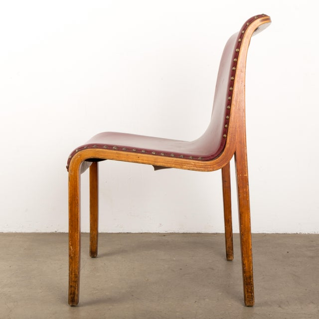 Mid-Century Modern Bill Stephens for Knoll Bent Wood Dining Chair For Sale - Image 3 of 13