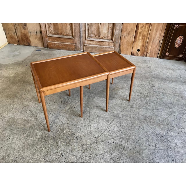 Mid 20th Century Nesting Tables by t.h. Robsjohn-Gibbings for Widdicomb - A Pair For Sale - Image 5 of 11