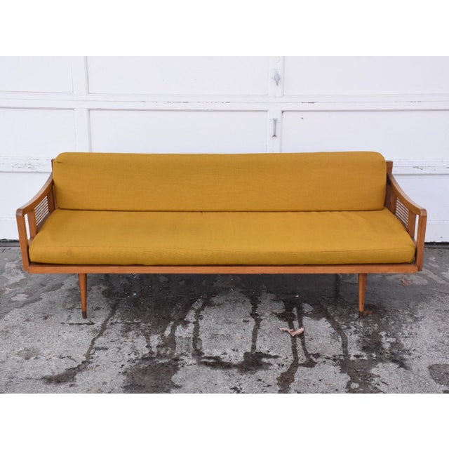 Danish Style Yellow Daybed - Image 3 of 10