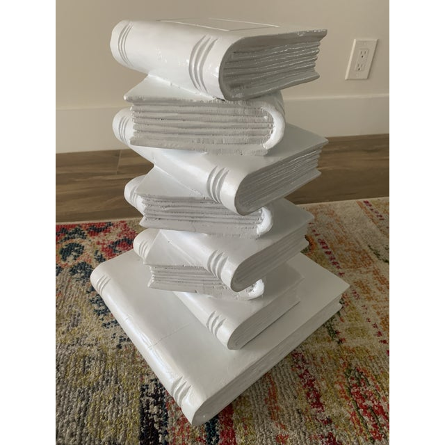 Tromp l'Oeil Stack of Books Side Table For Sale - Image 10 of 10