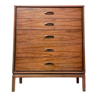 Vintage Mid-Century Modern Highboy Dresser For Sale