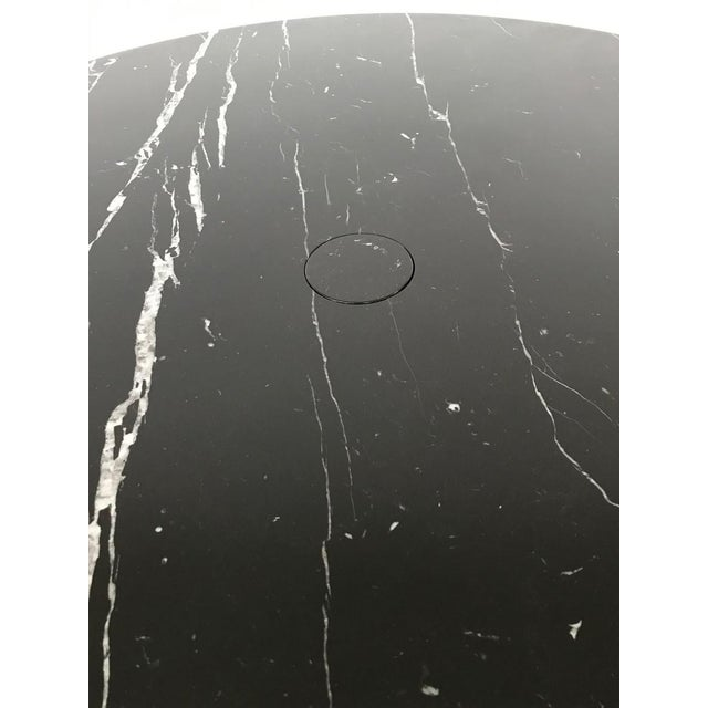 1970s Dining Table in Black Marble Model 'Eros' by Angelo Mangiarotti, Italy, 1970s For Sale - Image 5 of 6