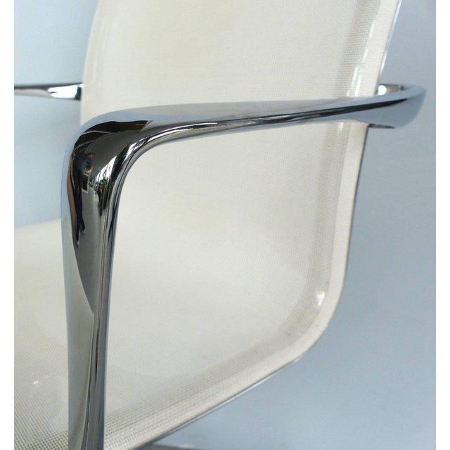 Metal Rolling Frame Swivel Chair with Armrests by Alberto Meda for Alias, Italy For Sale - Image 7 of 10
