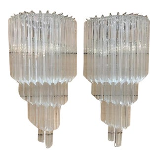 Murano Glass Quadriedo Wall Sconces - a Pair For Sale