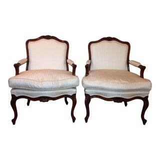 Louis XV White Chairs - A Pair For Sale