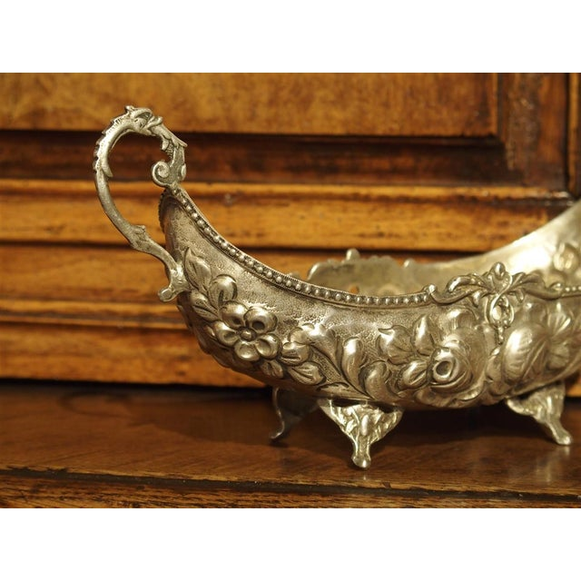 Small Antique Silver Gondola Form Serving Bowl From Germany, Circa 1900 For Sale - Image 9 of 13