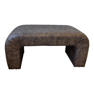 1980s Waterfall Upholstered Bench For Sale