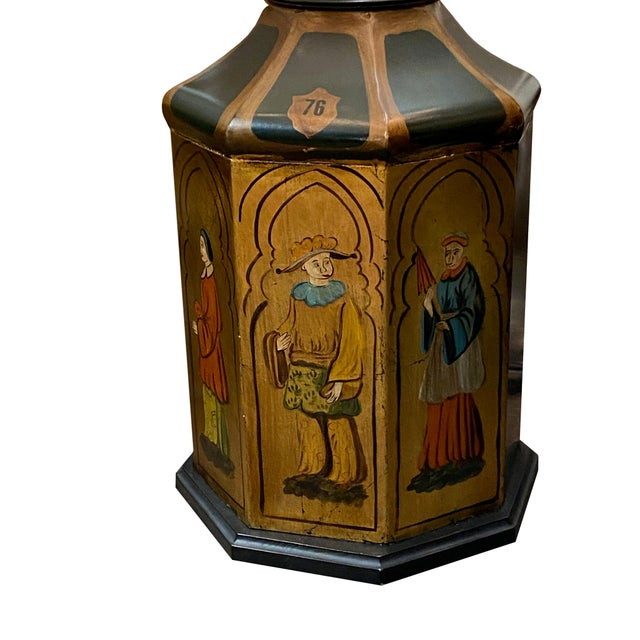 Antique Tole Lamps - a Pair For Sale In Dallas - Image 6 of 8