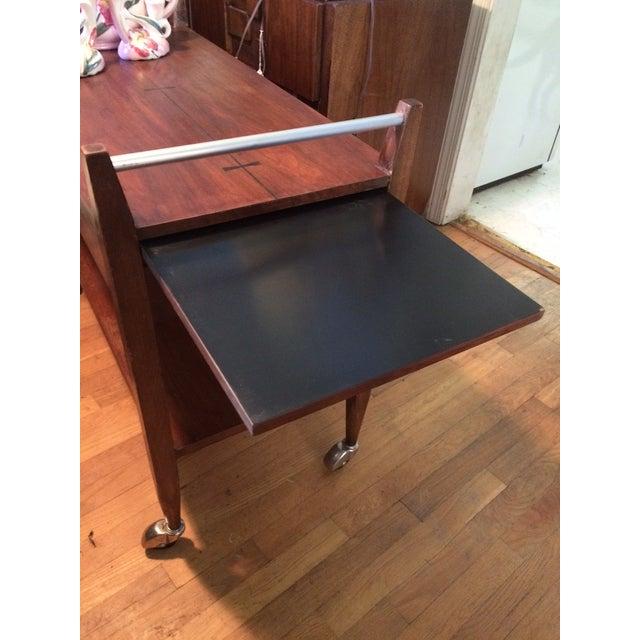 Mid-Century Modern American Lane Altavista Bowtie Bar Cart For Sale - Image 10 of 10