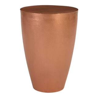 Phillips Collection Polished Copper End Table For Sale