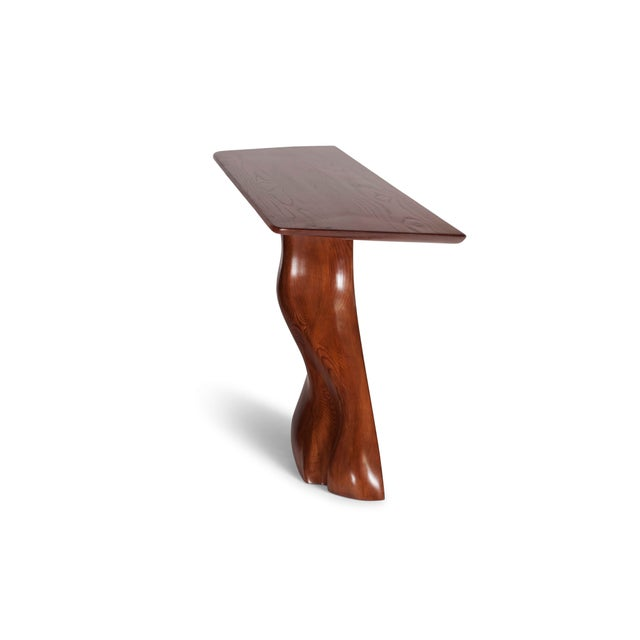 Amorph Frolic Console Table, Wall Mounted - Walnut Stained For Sale - Image 9 of 12