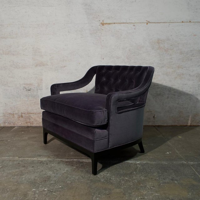 Diskin Art Club Chair Barrel back tufted cotton velvet chair (two available)