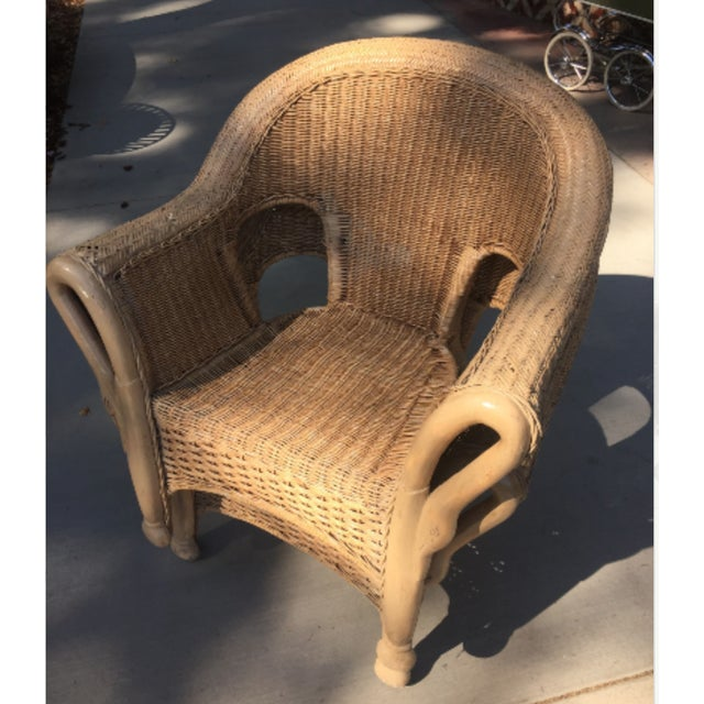 Vintage 1940s Wicker Carved Swan Chairs - A Pair - Image 2 of 9