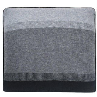 Array Cashmere Pillow, Charcoal For Sale