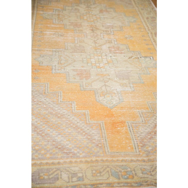 "Vintage Distressed Oushak Rug Runner - 3'10"" x 8'8"" For Sale In New York - Image 6 of 11"