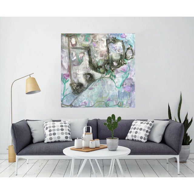 """Trixie Pitts's """"Monkey Business"""" Large Abstract Painting - Image 3 of 6"""