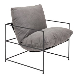 Washed Gray Trent Chair For Sale