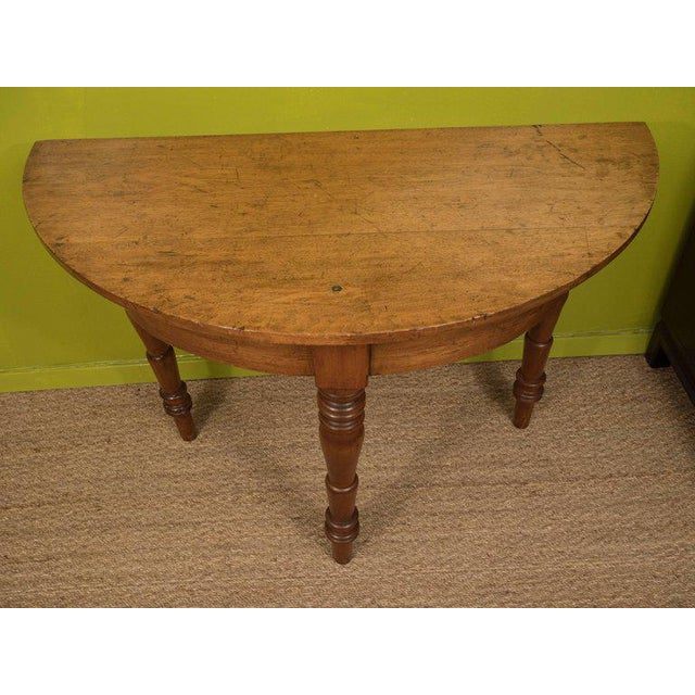 Oak Demilune Table - Image 3 of 6