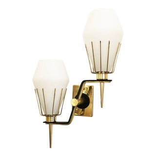 Italian Mid-Century Wall Lights Attributed to Arredoluce For Sale