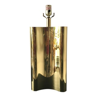 1970s Hollywood Regency Brass Table Lamp