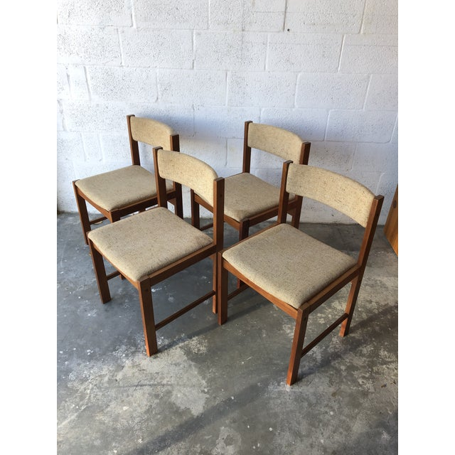 Vintage Mid Century Danish Modern Style Dining Chairs (Set of Four) For Sale - Image 13 of 13