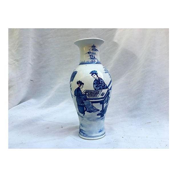 Chinese Blue White Porcelain Vase Chairish