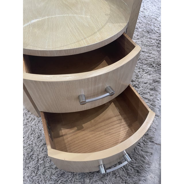 1980s Jay Specter Signed Round Side Tables - a Pair For Sale - Image 10 of 11
