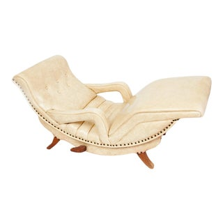 Vintage 1950s Adjustable Reclining Chaise by Contour Chaise Company For Sale