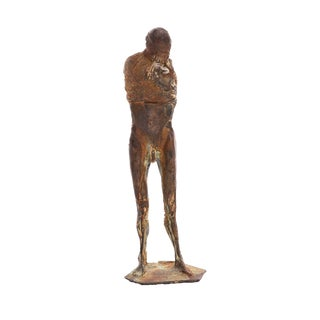 1970s Figurative Bronze Sculpture by Carl Dahl For Sale