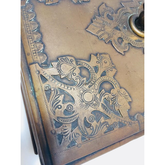 Antique Anglo Indian Georgian Brass Desk Box For Sale - Image 9 of 12