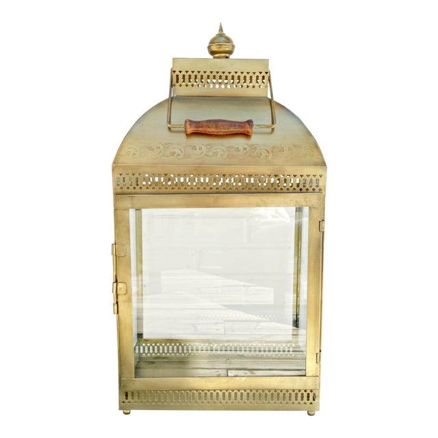 Large Brass Lantern - Image 1 of 4