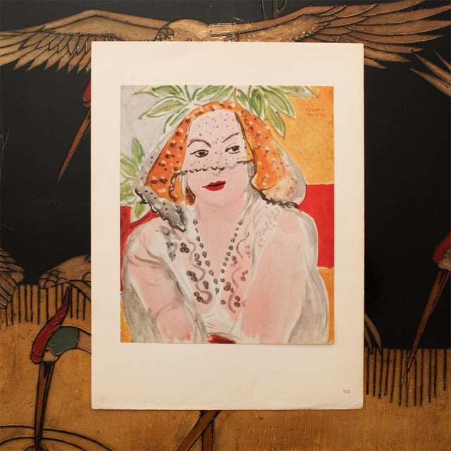 "Modern 1946 Henri Matisse, ""Woman With Violet"" Original Period Parisian Lithograph For Sale - Image 3 of 8"