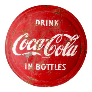 1950s Coca Cola Sign For Sale