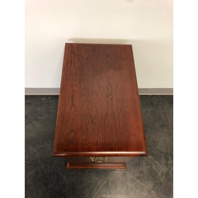 Chippendale Style Cherry Chairside Chest / Nightstand by Hooker For Sale In Charlotte - Image 6 of 11