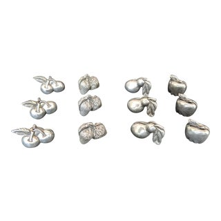 Seagull Pewter Place Card Holders - Set of 12 For Sale