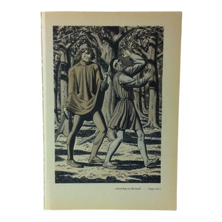 """1949 """"Seized Him by the Band"""" the Decameron of Giovanni Buccaccio Illustrated Print For Sale"""