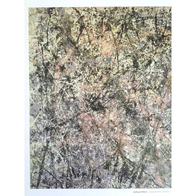 """2000 - 2009 Jackson Pollock Foundation Abstract Expressionist Collector's Lithograph Print """" Lavender Mist : No. 1 """" 1950 For Sale - Image 5 of 13"""