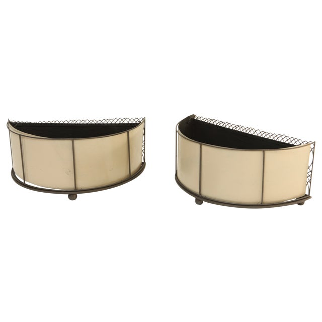 Pair of Mid Century Table Planters - Image 1 of 10